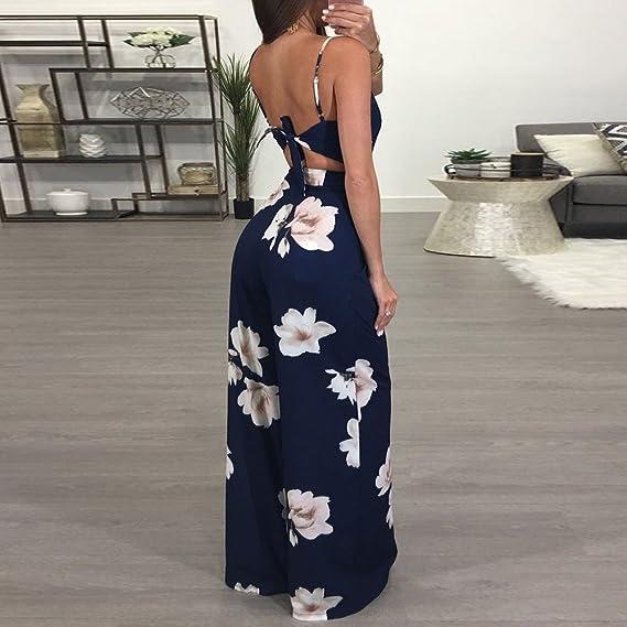 ❤ Mono Bodycon Mujeres, Pantalones de Fiesta Floral de Clubwear para Mujer Absolute: Amazon.es: Ropa y accesorios