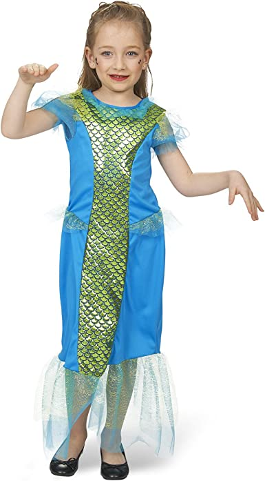 Disfraz infantil de sirena de