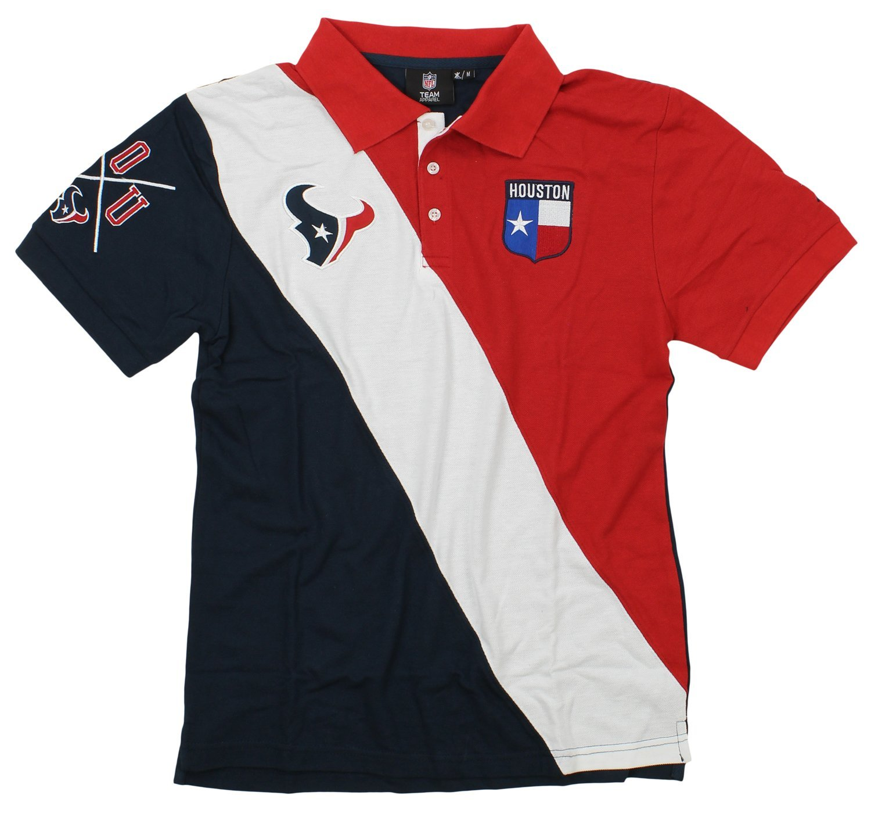 KLEW NFLメンズCity Crest、対角ストライプポロシャツ、チームChoice XX-Large ヒューストンテキサンズ B07G1CP335