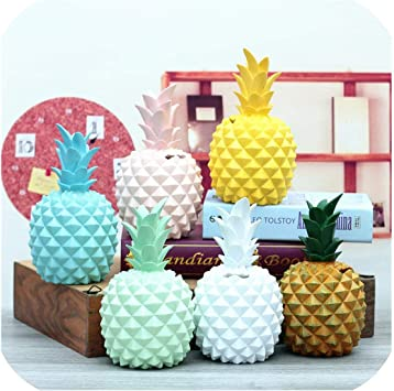 Resin Pineapple Piggy Box Cute Gift Home Decoration Cash Coin Saving Box