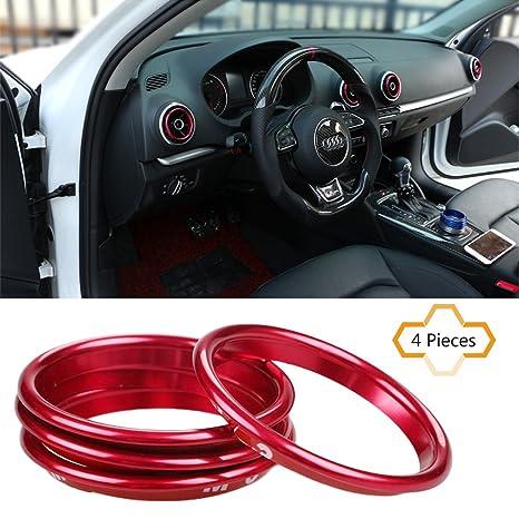 cogeek 4pcs/set Interior Dashboard Aire Acondicionado ventilación Adorno decoración estilo de coches salida de