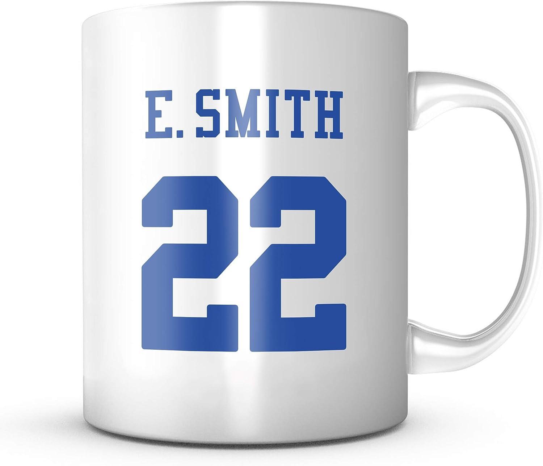 Emmitt Smith Mug - Dallas Football Jersey Number Coffee Cup 71OzxCanYyL