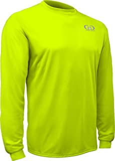 product image for PT-803L-CB Adult Unisex Loose Fit Long Sleeve Athletic Workout Shirt, Anti-Microbial (XXX-Large, High Vis Green)