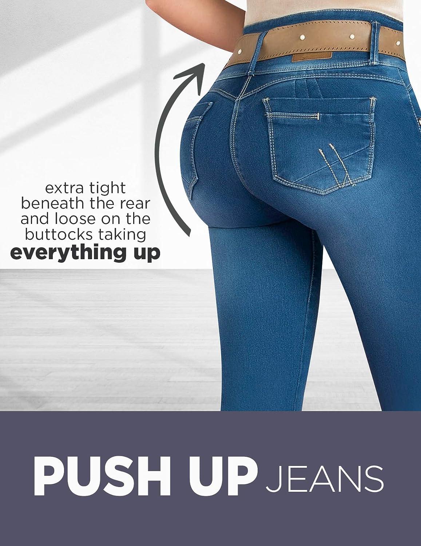 Amazon.com: Elástico acampanado Butt Lifting | Pantalones de ...