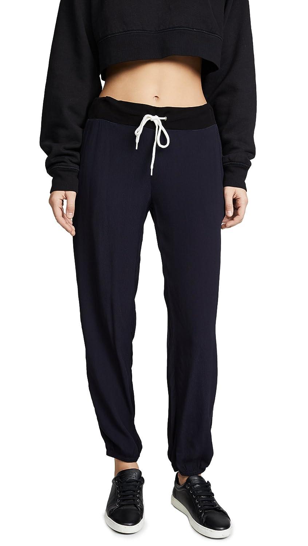 Monrow Women's Side Stripe Slouchy Pants Neptune Large