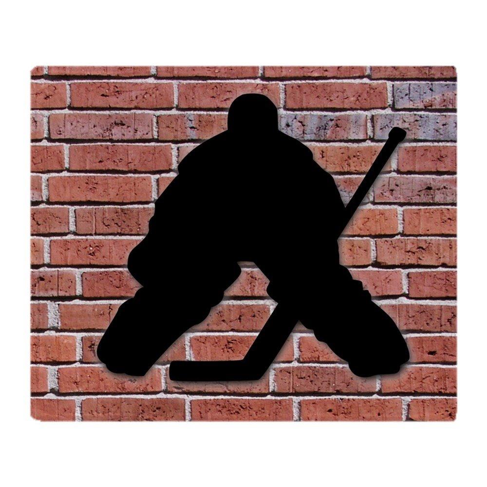 CafePress - Hockey Goalie Brick Wall - Soft Fleece Throw Blanket, 50''x60'' Stadium Blanket