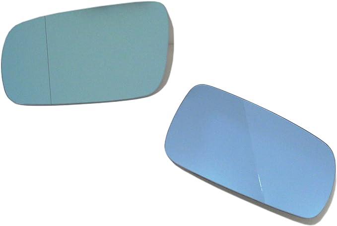 OriginalEuro Euro Wing Tinted Blue Heated Anti Blind Spot Mirror Glass for VW MK4 Passat B5 B5.5