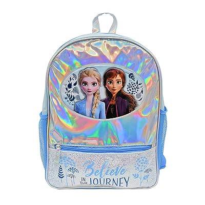 """Frozen 2 Foil 16"""" Backpack with Glitter Front Pocket Standard   Kids' Backpacks"""