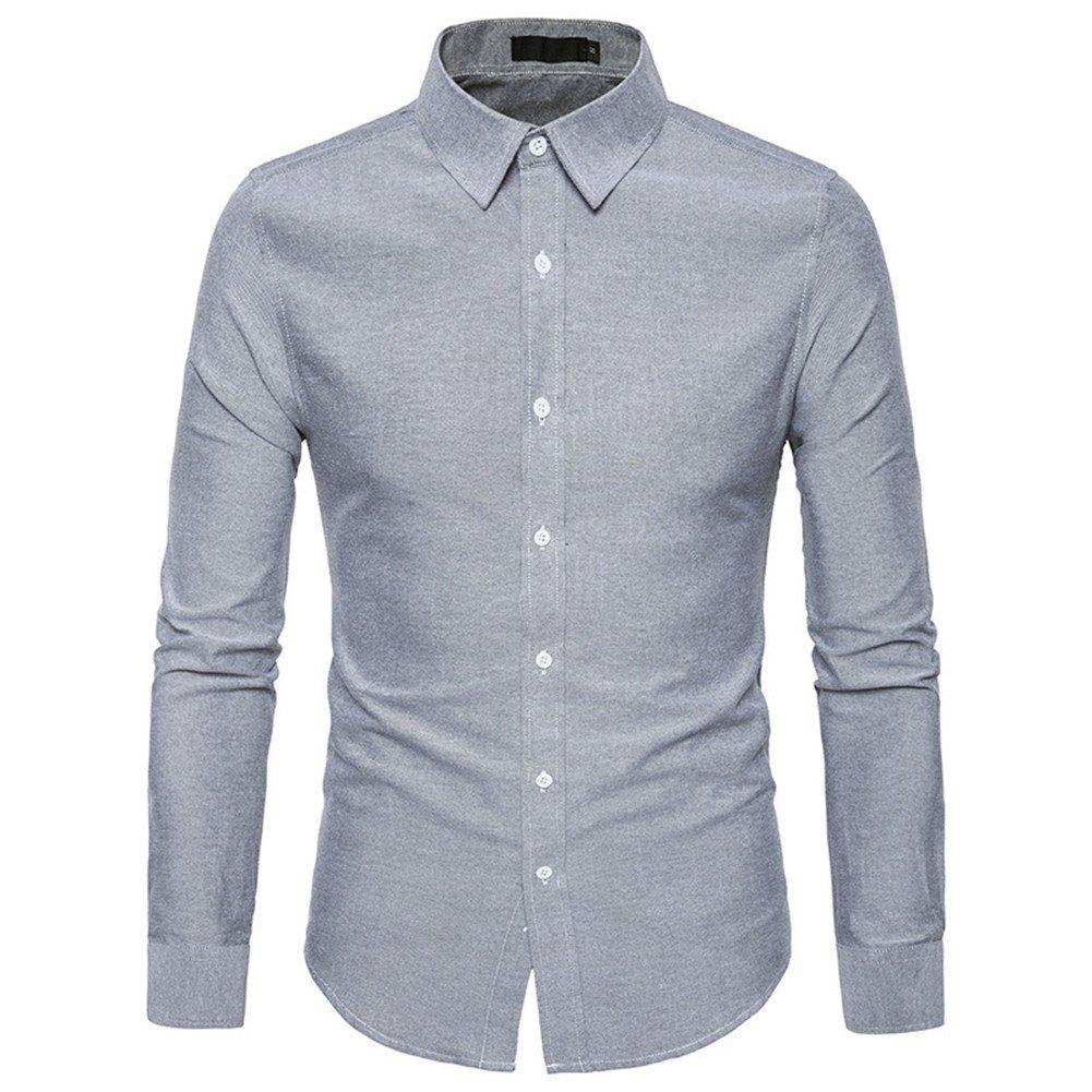 TALLA L. Tobaling Camisa Formal - con los Botones - Básico - Clásico - para Hombre