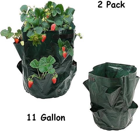 Strawberry Hanging Plant Grow Bag PE Potato Pouch Tomato Herb Garden Bags Round