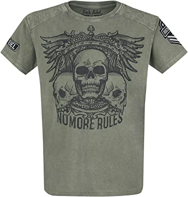Rock Rebel by EMP Rebel Soul Hombre Camiseta Verde S, 100 ...