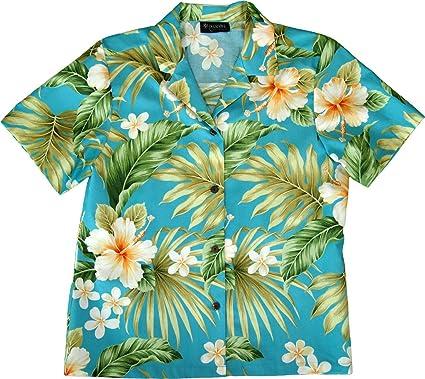 15e872645 RJC Women's Aloha Getaway Hawaiian Camp Shirt at Amazon Women's ...