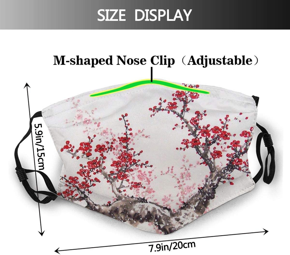 Narustop Fan Mart Reusable Mouth Guard with Replaceable Filter Activated Carbon Dust Cover