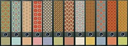File Art Ordnerrücken Etiketten Pattern  für 12 breite Ordner AJ321+322+323