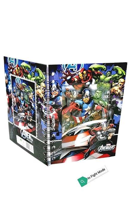 Pack Of 3 Avenger Theme Hard Case Spiral Diary For Birthday Return Gift Kids