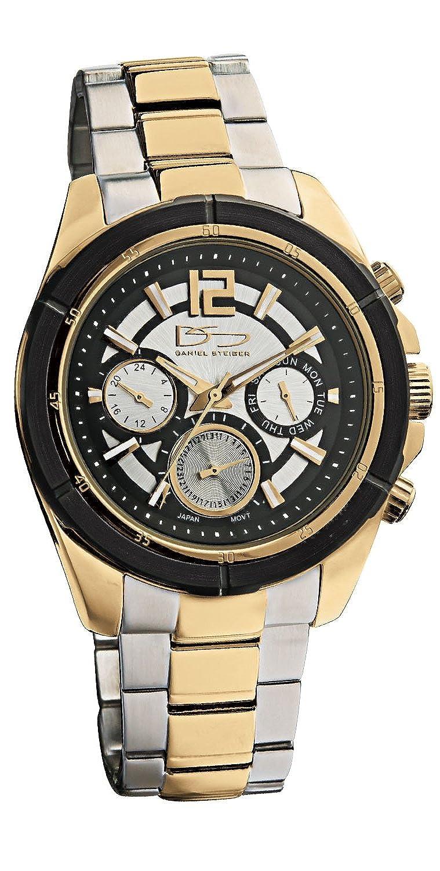 Daniel Steiger Troyano多機能イエローゴールドメンズ腕時計 – Luxuryツートンカラースチールとゴールドメッキ – 100 m防水 – 24時間日、日付&機能 B07175JTS2