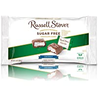 Russell Stover Sugar-Free Chocolates, Coconut Center, 10 Ounce Laydown Bag, Sugar-Free Candy, Sweet Coconut Covered in Chocolate, Individually Wrapped and Sweetened with Stevia