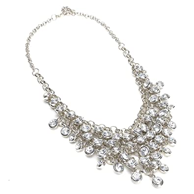 statement rhinestone uk is itm collar image choker bib necklace jewelry loading chunky crystal flower s