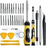 esLife Schraubendreher Set 36 in 1 Mini Schraubendrehersatz Magnetische-Werkzeuge mit Doppelgriffen, 22 langen Präzisions-Bits und Erweiterungs-Kits für Reparatur, Wartung und PC-Bastler