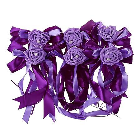 Sodialr 6pcslot Wedding Car Decoration Flower Door Handles And