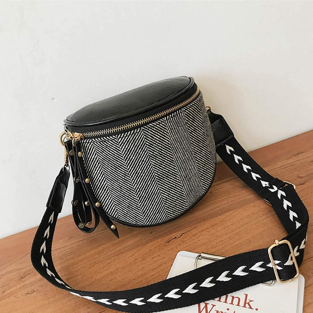 BITOPYTOPSIY Women Vintage Wool Palid Bucket Crossbody Small Satchel Bag Satchel Purse Tote Shoulder Handbags