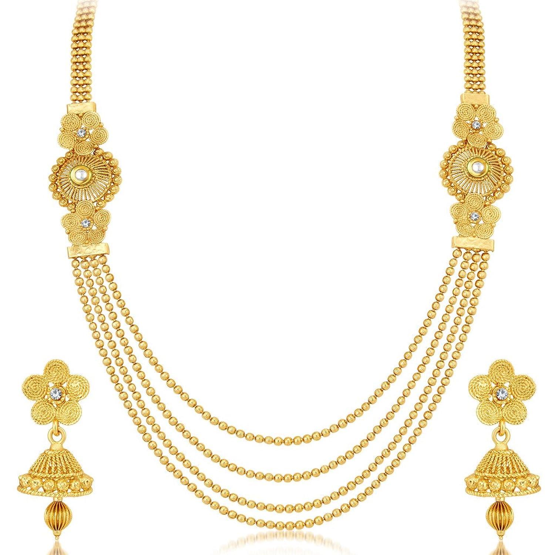 Buy Sukkhi Dazzling Jalebi 4 String Gold Plated Set of 2 Necklace