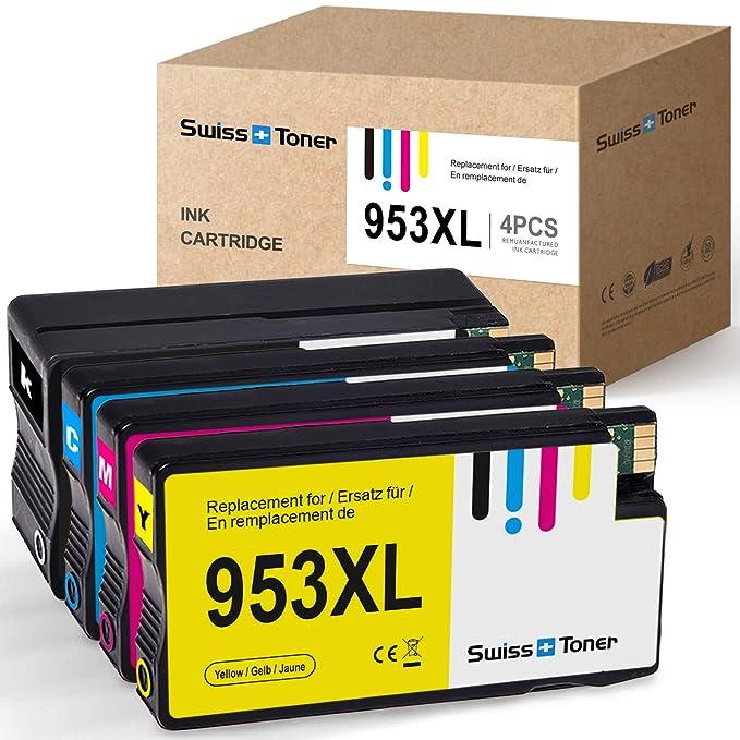 SWISS TONER Compatible con HP 953XL 953 XL Cartuchos de Tinta para ...