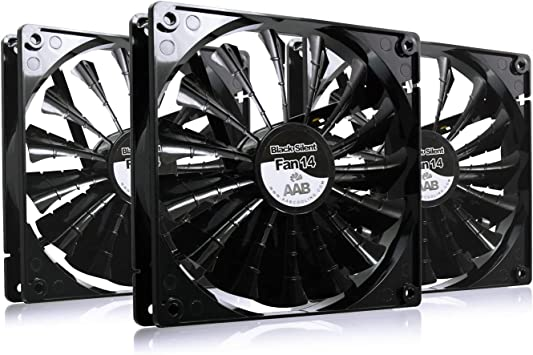AABCOOLING Black Silent Fan 14: Amazon.es: Electrónica