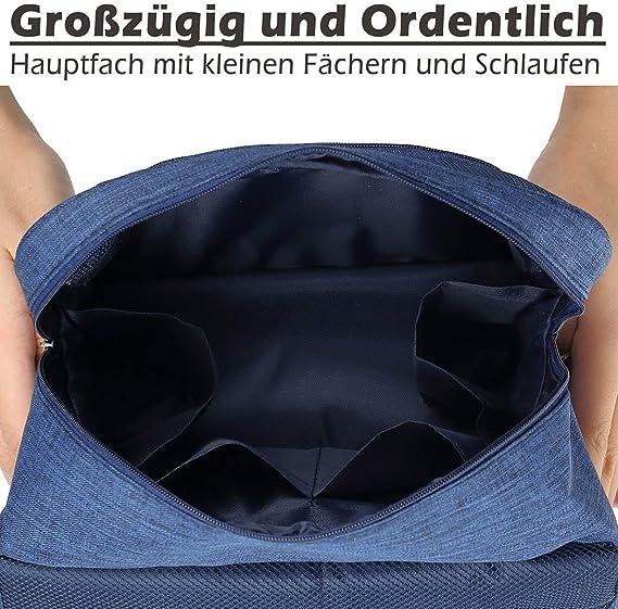 Damen TravelLife Kompakter Kulturtasche zum Aufh/ängen Faltbarer Reise Kulturbeutel mit Tragegriff Waschtasche Waschbeutel f/ür Herren