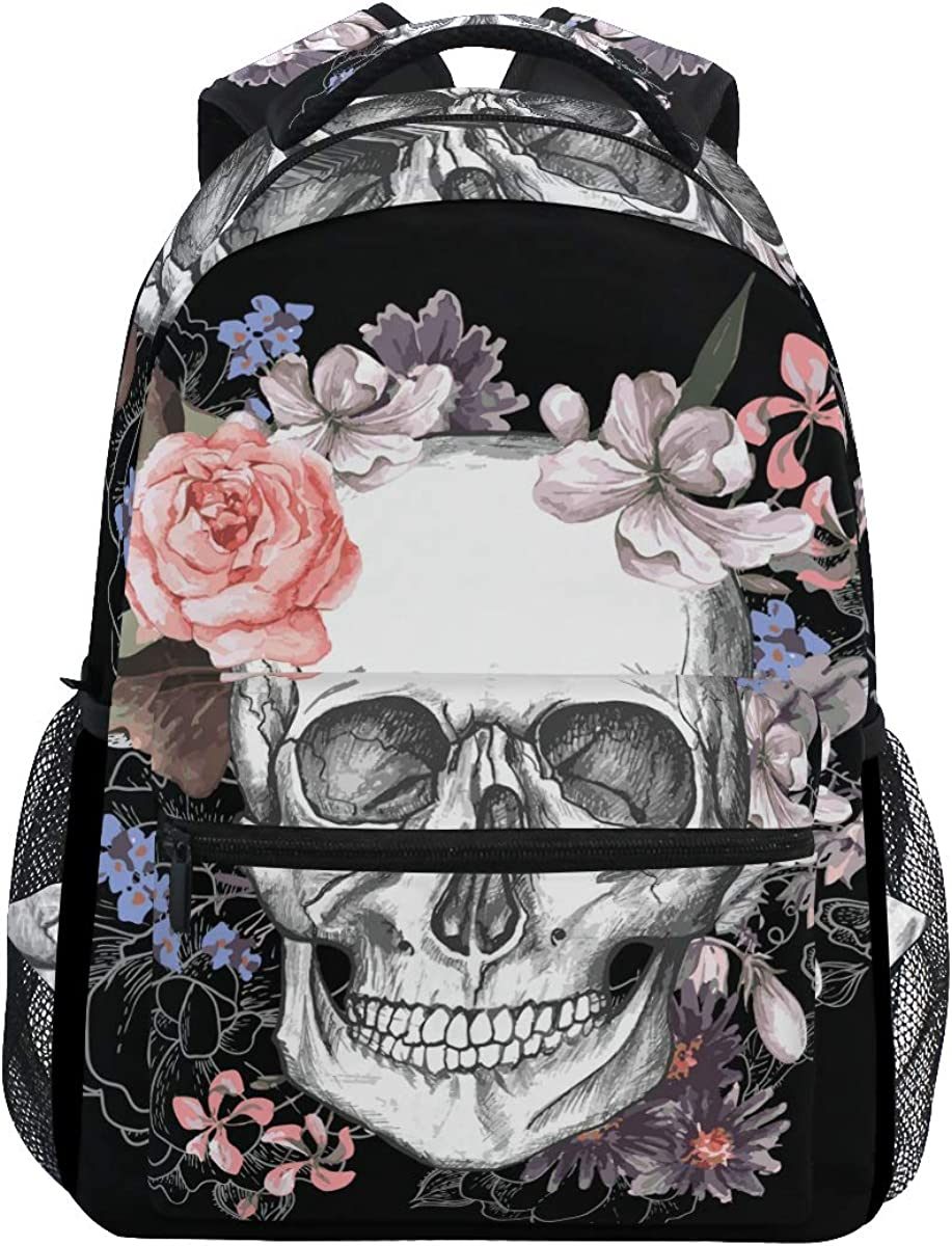 Wamika Marble Backpack for Girls Kids Boys Teens Stone School Student Book Bags