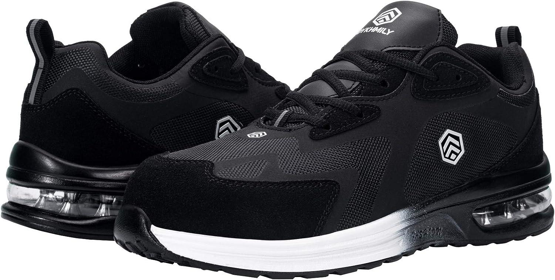 Fenlern Chaussure de Securite Homme Baskets de Securite Chaussures de Travail Reflechissantes Antid/érapants