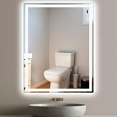 PexFix LED Bathroom Vanity Mirror 48×36 Inch Automatic Defogging Waterproof Wall Mounted Mirror Makeup Mirror