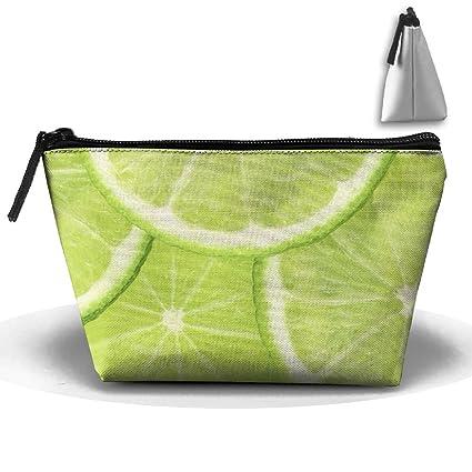 4a2d5408e563 Amazon.com: Homlife Green Lemon Pattern Cosmetic Tote Bag Carry Case ...