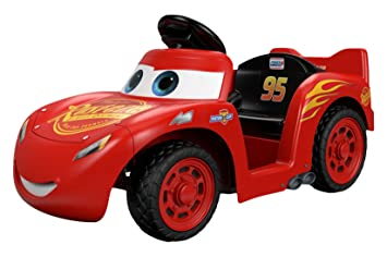 Amazoncom Power Wheels Lil Lightning McQueen Ride On Toys Games