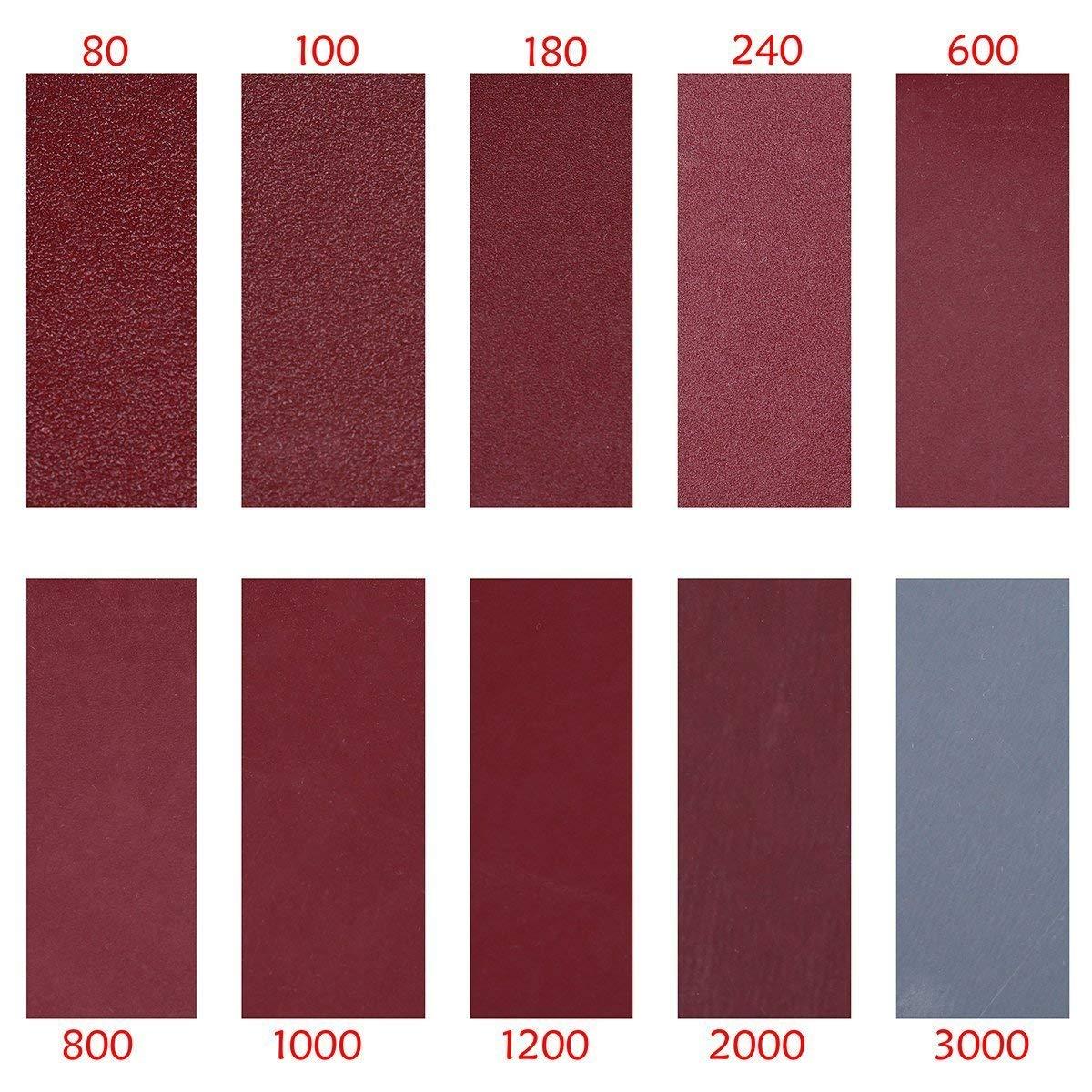 100-Pack 2 inch Sander Disc DeSS Aluminium Oxide Hook /& Loop Sanding Discs 10PCS Each of 80//100//180//240//600//800//1000//1200//2000//3000 Grit