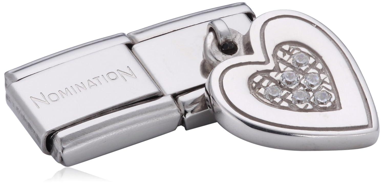 Nomination 031710/09 - Maillon pour bracelet composable Femme - Coeur - Acier Inoxydable 031710-09