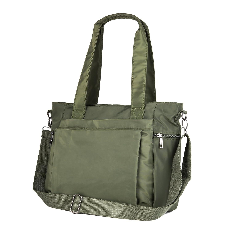 Amazon.com  ZORESS Women Fashion Large Tote Shoulder Handbag Waterproof  Multi-function Nylon Travel Messenger Bags (Green)  ZORESS Factory Shop ee794e0c621c8