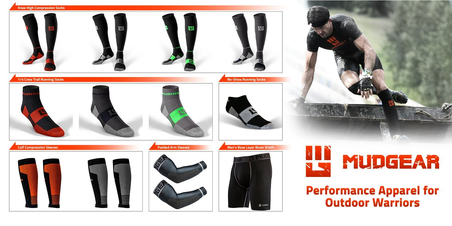 MudGear Premium Compression Socks - Mens & Womens running hiking trail (1 Pair) by MudGear (Image #8)