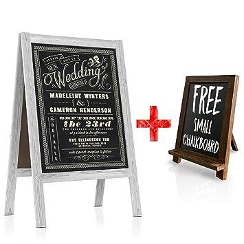 Amazon.com : Chalkboard Wedding Sign - Large A Frame Standing ...