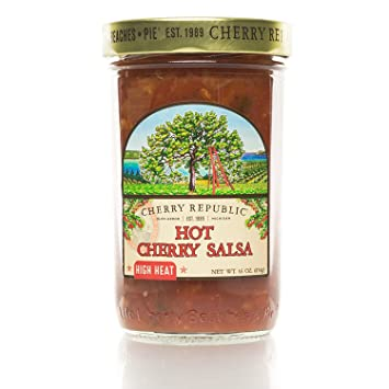 Cherry Republic Hot Cherry Salsa - High Heat Salsa Mix with Authentic Michigan Cherries - Hot