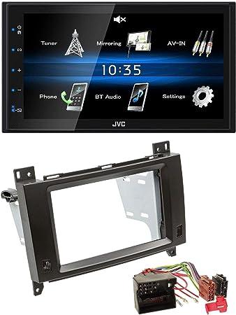 JVC AUX 2DIN USB MP3 Bluetooth Autoradio für Alfa Romeo Mito ISO 955 08-14 silbe