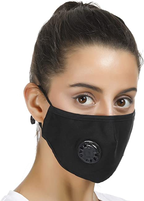 Black Mask Dust Face Valve With Reusable Filters Be And For Pollution 4 Replaceable N99 Can Washed Respirator Smoke
