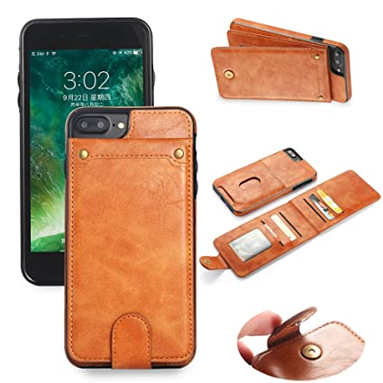 super popular a4782 f417c Scheam iPhone 7 Plus iPhone 8 Plus Case, iPhone 7 Plus iPhone 8 Plus Wallet  Case,Leather Phone Cases, Premium Slim Leather Wallet Back Case with ...