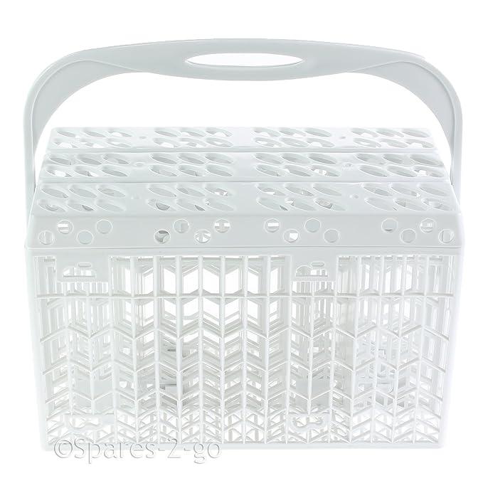 Spares2go Cubiertos Cesto plástico accesorio de tapa y asa ...