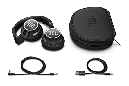 JBL Synchros 400BT Bluetooth Wireless On-Ear Stereo Headphones, Black
