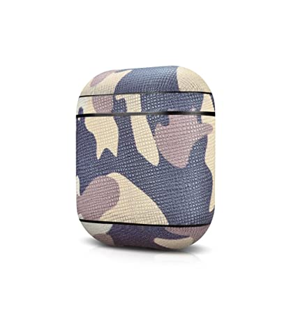 pretty nice f8e88 648eb Sakulaya AirPods Protective Case Leather Protective Cover for Apple AirPods  Camouflage