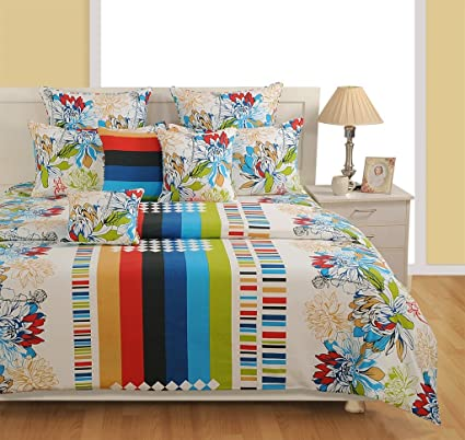 Amazing Swayam White Colour Extra Large Bed Sheet With Pillow Covers