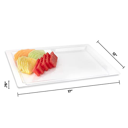 Amazon.com: Bandeja de plástico rectangular para servir ...