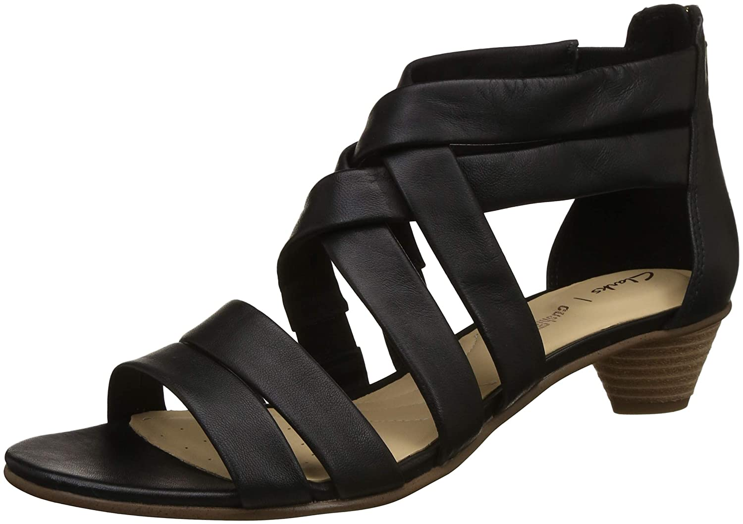 32475702c2d Clarks MENA Silk Leather Sandals in Black  Amazon.co.uk  Shoes   Bags