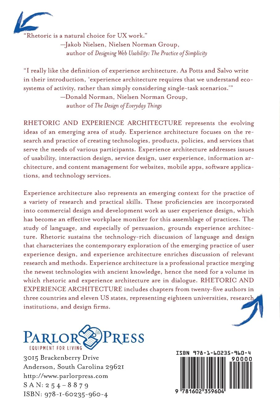 Rhetoric and Experience Architecture by Parlor Press